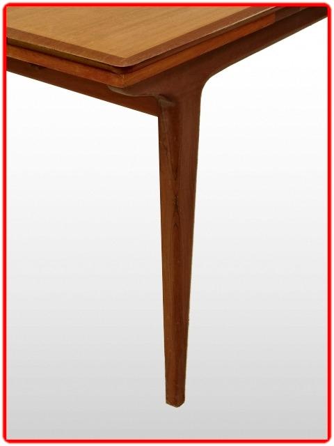 Table LB extensible vintage 1960 à rallonges