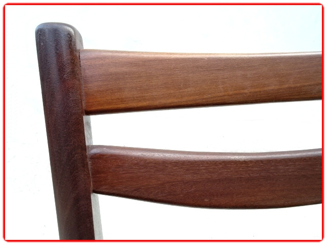 chaises scandinaves palissandre