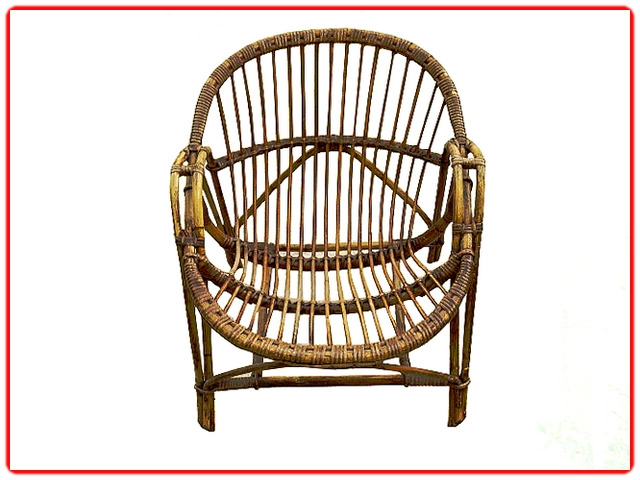fauteuil coquille rotin adulte