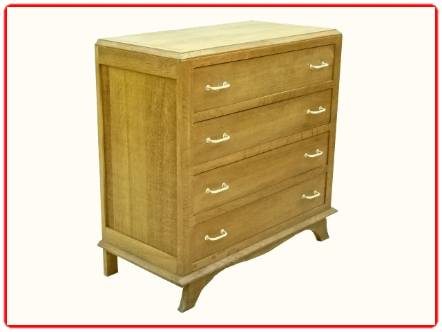Commode 1950 vintage bois massif clair