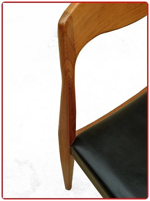 chaises vintage scandinave 1960 teck