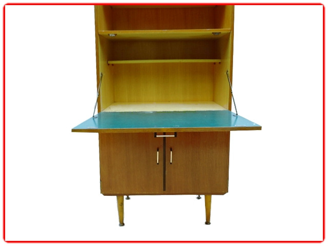 secretaire vintage bois clair