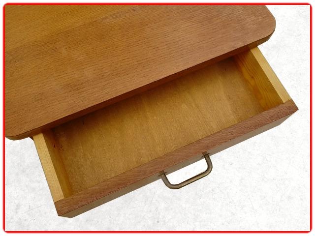 chevet vintage bois clair doré