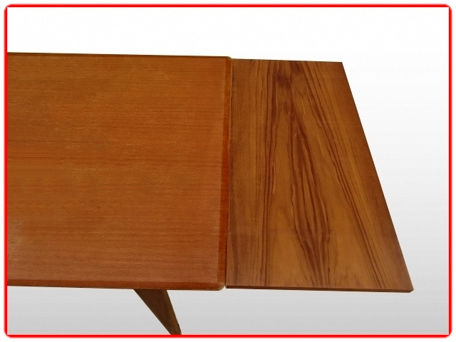 Table extensible teck LB scandinave vintage 1960