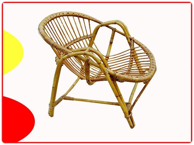 fauteuil rotin ancien