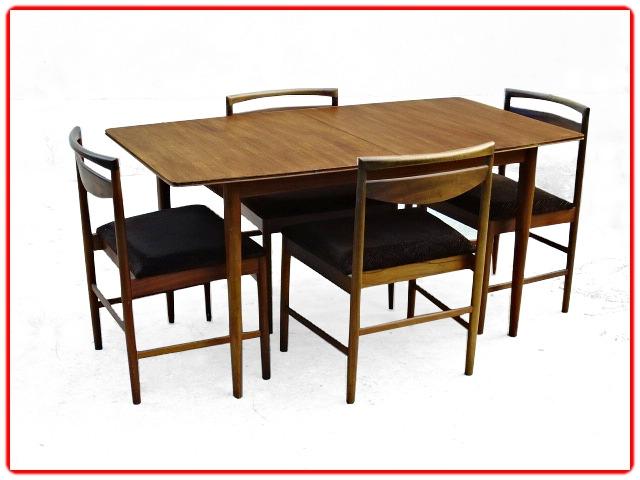 Table et chaises McIntosh teck vintage 1960