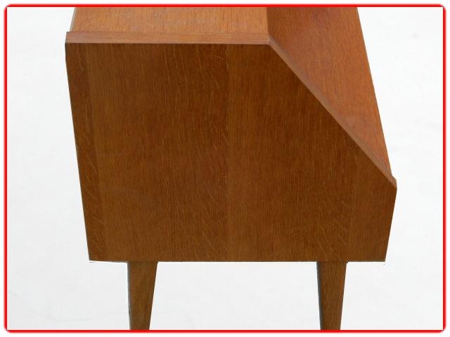 Table de chevet bois clair 1960