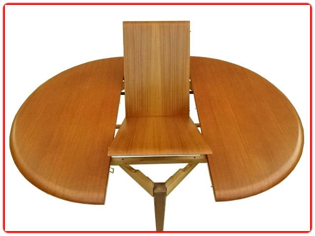 Table d'occasion rénovée teck vintage 1960
