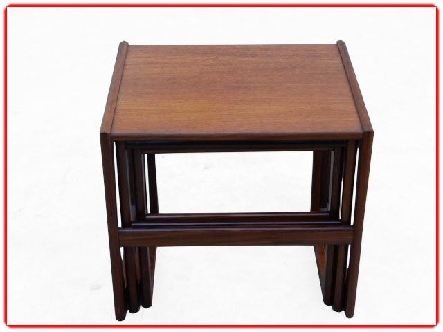 3 tables vintage 1950 V. Wilkins en teck