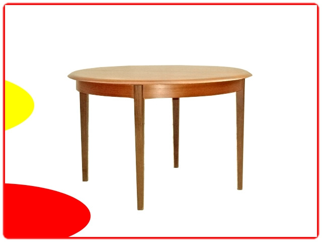 Table de repas ronde extensible scandinave 1960