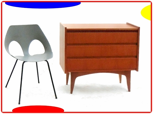 commode scandinave teck