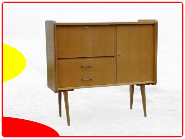 Buffet édition SAM vintage 1950 bois massif