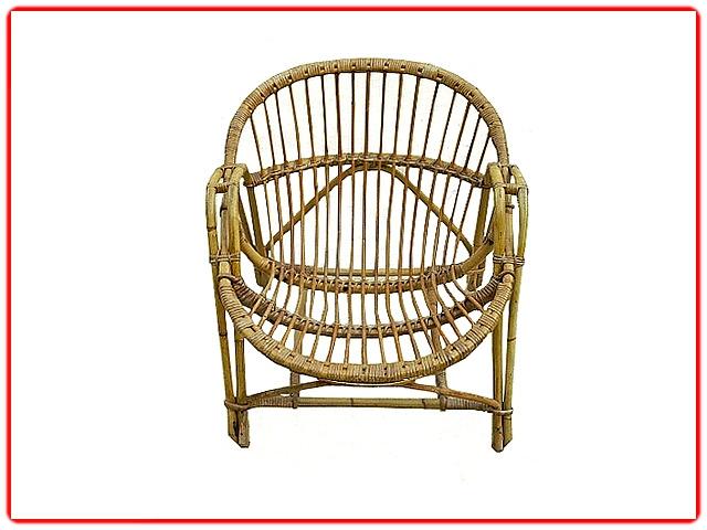 fauteuil rotin vintage 1960