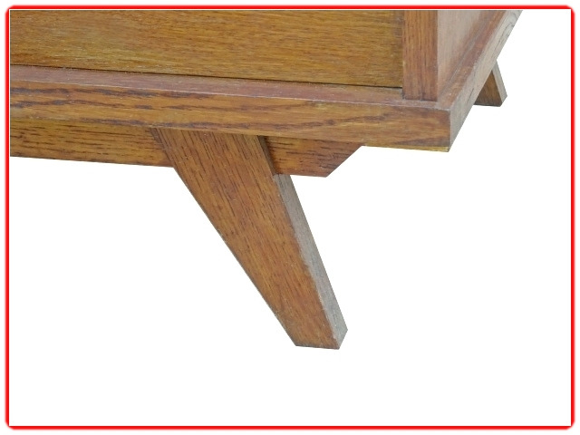 commode vintage bois clair