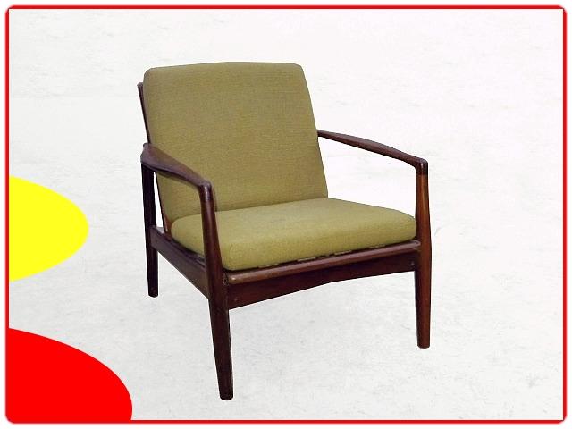 fauteuil scandinave en teck design 1960