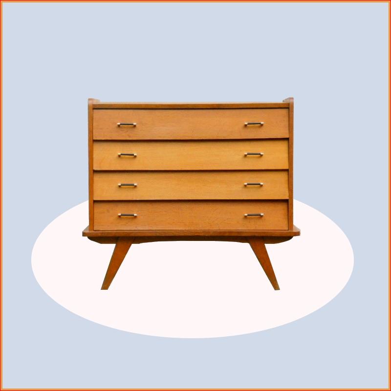 commode meuble sous vasque vintage