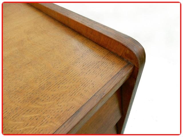 commode vintage bois clair doré