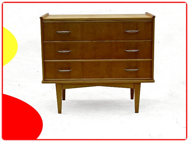 commode vintage 1960 3 tiroirs