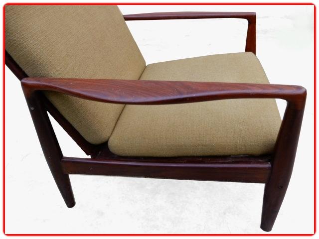 fauteuil scandinave en teck design