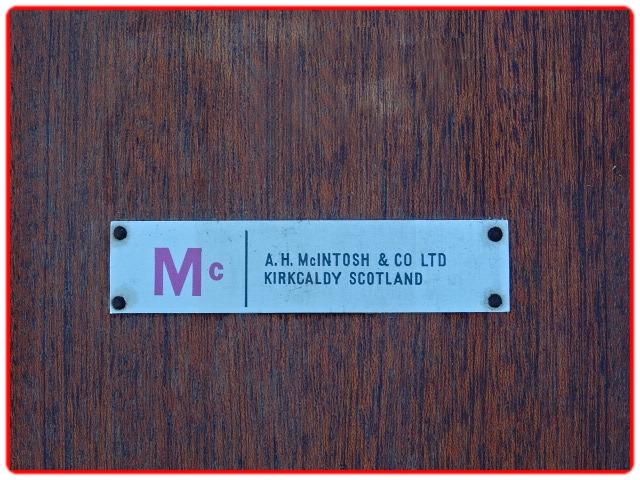 Estampille McIntosh table teck vintage scandinave1960