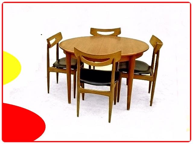 chaises en teck Samcom scandinaves