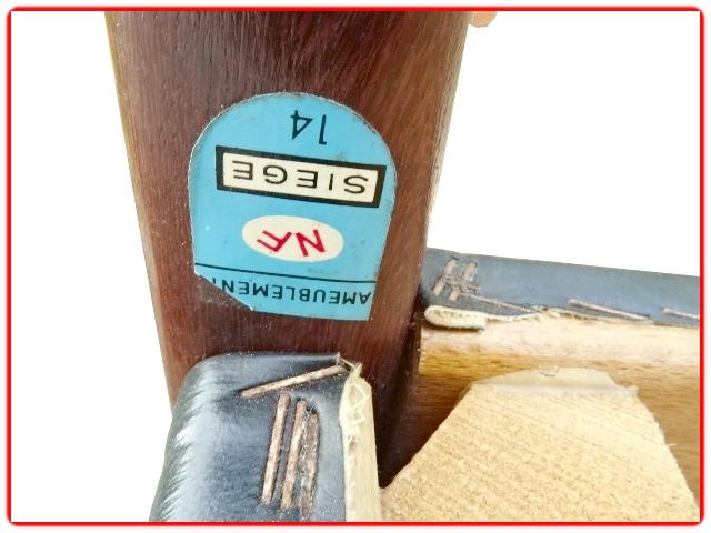 chaises vintage scandinave palissandre
