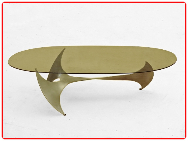Table basse design Hélice 1960