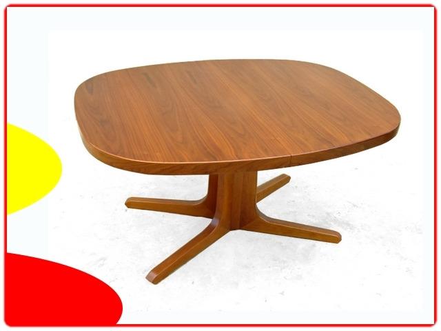 table de repas scandinave pied central avec rallonges