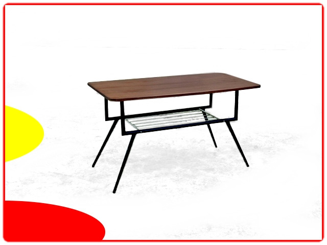 table vintage rétro 1960 bois et métal