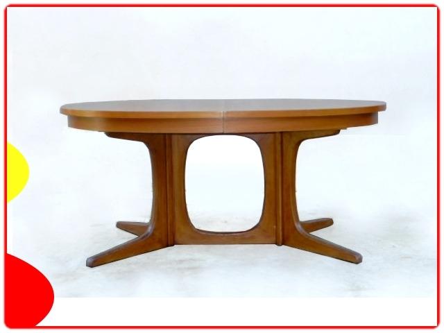 Table ovale Baumann extensible vintage