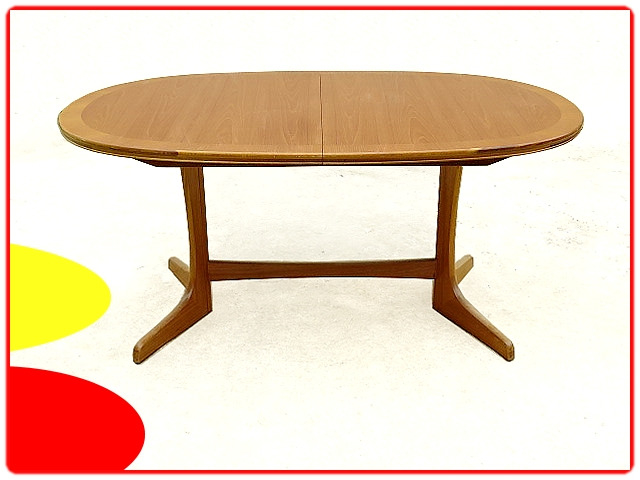 table à manger W. Lawrence scandinave 1960