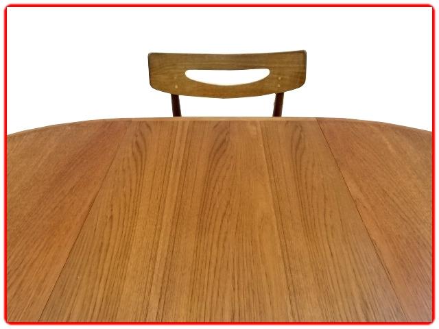 Table ronde danoise H. W. Klein teck SAMCOM Danois