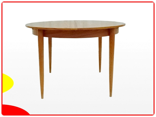 Table ronde vintage scandinave 1970