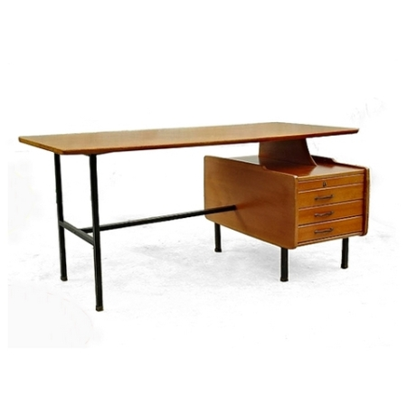 Bureau design Jacques Hauville vintage scandinave