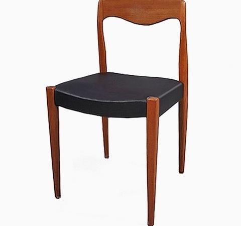 Chaises danoises Niels Otto Møller teck vintage 1960