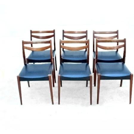 chaises scandinaves en palissandre
