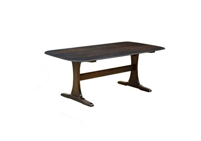 Table basse Ercol en orme années 1960
