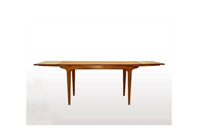 table à manger LB scandinave vintage teck 1960.