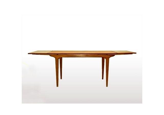 table à manger LB scandinave vintage teck 1960.
