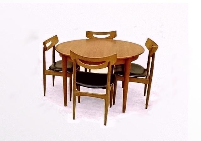 Table à manger Harry Walter Klein scandinave teck