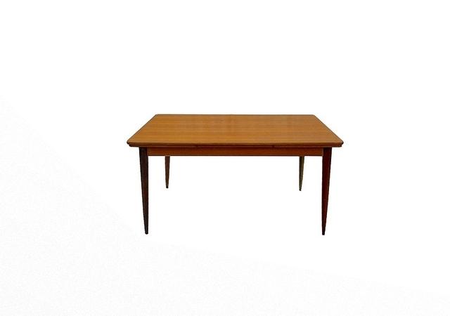 Table à rallonges vintage scandinave teck