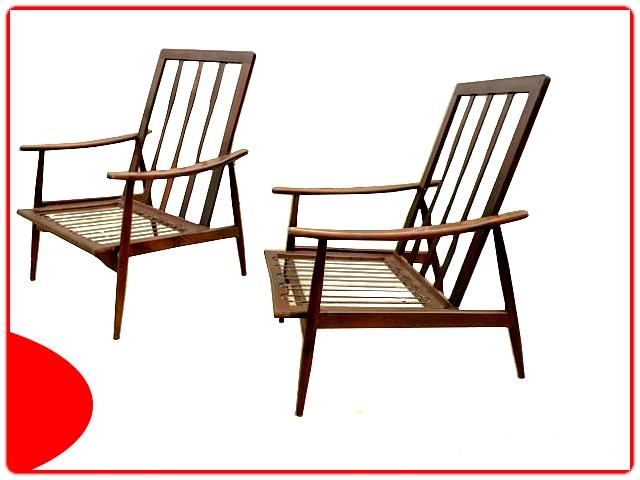Paire de fauteuils scandinave vintage 1960