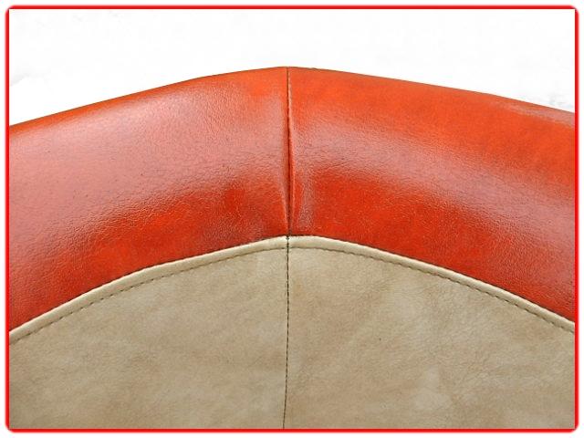 Canapé fauteuils ottoman vintage 1970