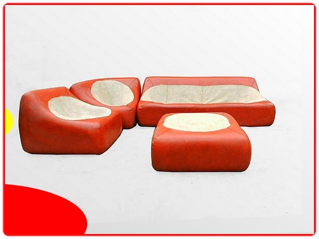 Canapé d'angle vintage rétro 1970
