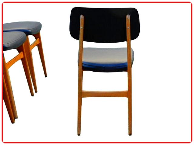 Chaises Stella vintage 1960 bois clair