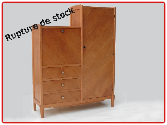 armoire penderie secrétaire vintage 1950
