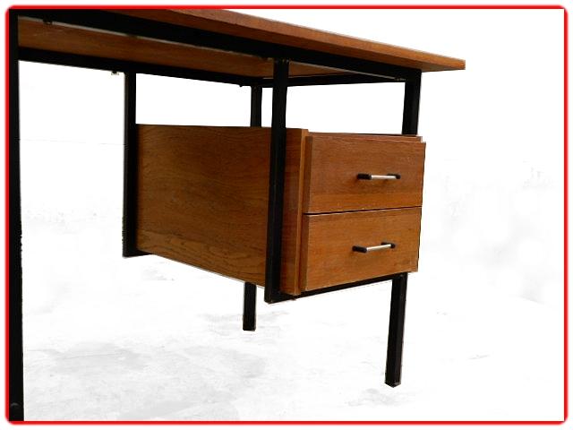 Bureau moderniste bois métal