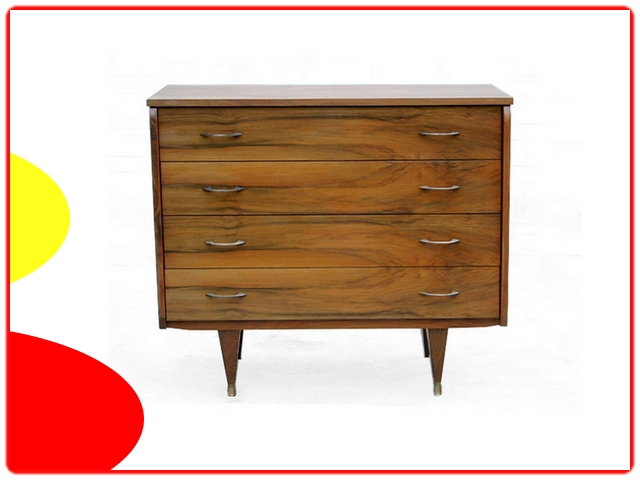 Commode en noyer vintage 1960