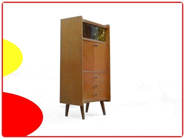 Secrétaire vintage 1950 bois clair