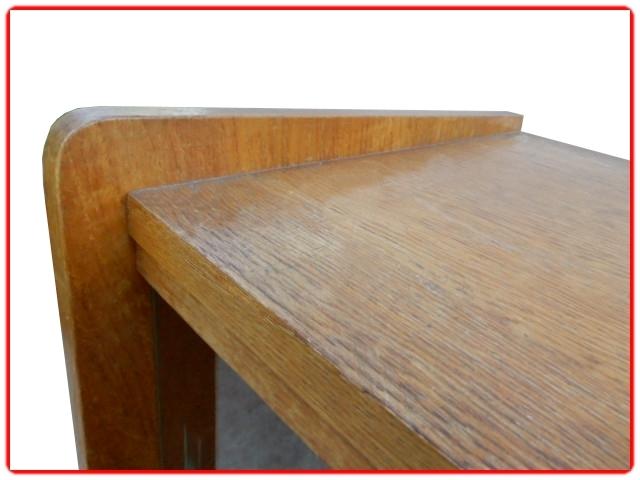 Secrétaire vintage bois clair massif 1950